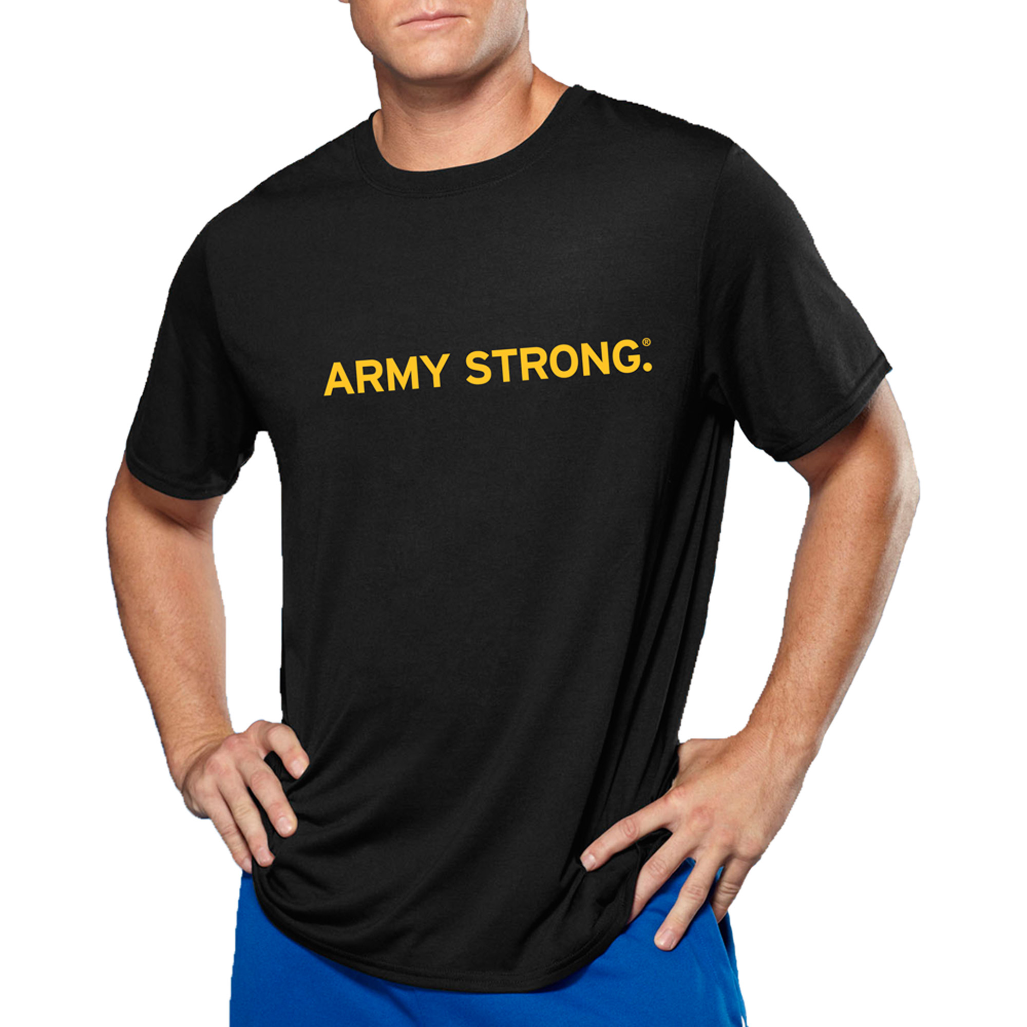 Big Men's Military Officially Licensed Army Strong Performance Comfort Wear Graphic Tee, 2XL