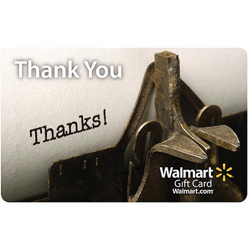 Appreciation Walmart Gift Card