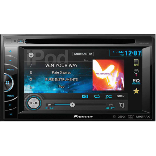 "Pioneer Avh-x2500bt 2-DIN Multimedia DVD Receiver with 6.1"" WVGA Touchscreen Display by Pioneer"
