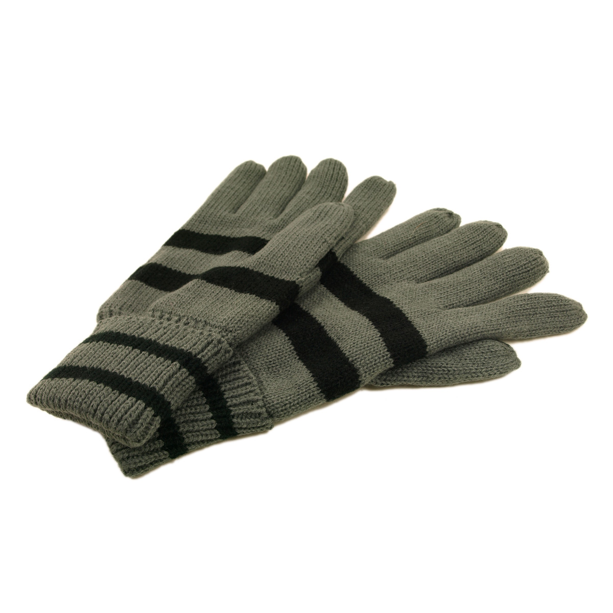 Soft Knit Men's Striped Winter Insulated Gloves by Insulated Gloves