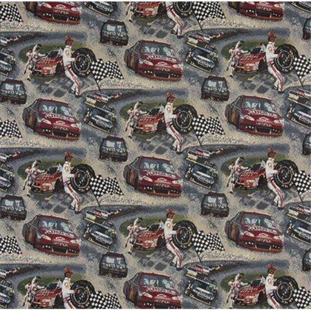 Designer Fabrics A012 54 in. Wide , Racing Cars, Pit Crew, Finish Checkered Flag, Race Track, Themed Tapestry Upholstery Fabric](Checkered Flag Fabric)