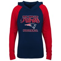b3c1c866fba Product Image Girls Youth Navy/Red New England Patriots Hooded Long Sleeve  T-Shirt