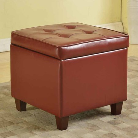 Kinfine Usa Square Tufted Leatherette Storage Ottoman