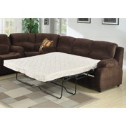 AC Pacific Tracey Queen Sofa Bed, Brown