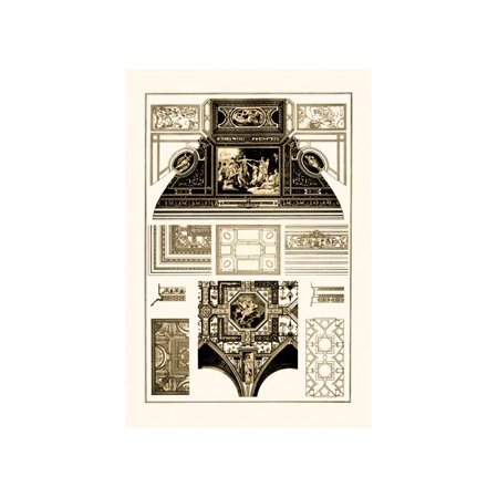 Cloister-Vaults And Coved Ceilings Print (Unframed Paper Print