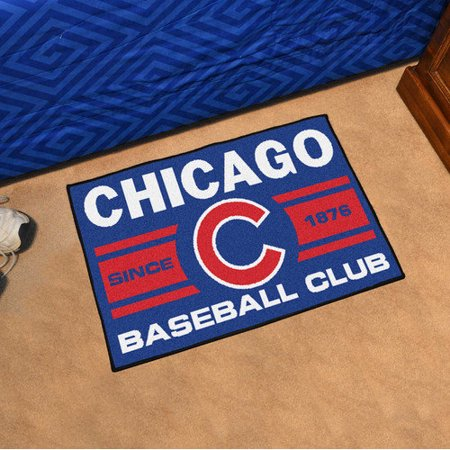Fanmats Chicago Cubs Baseball Club Starter Rug 19