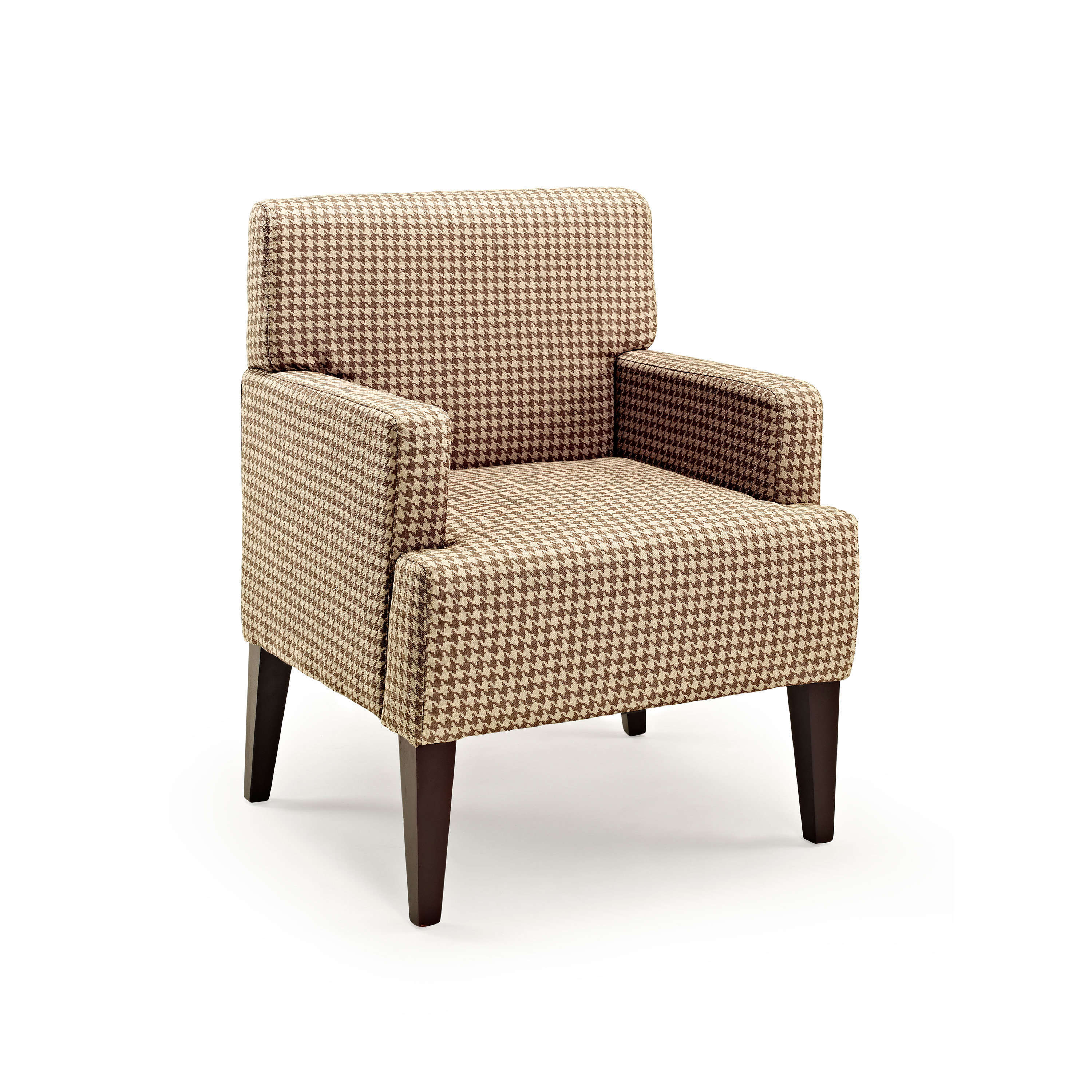Parlour Scotty Houndstooth Upholstered Accent Chair, Multiple Colors