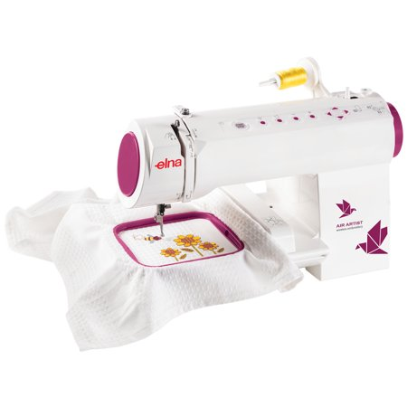 Elna Air Artist WiFi Enabled Embroidery Machine with 260 Built-In Designs and 12 Fonts Font Frames Embroidery Design