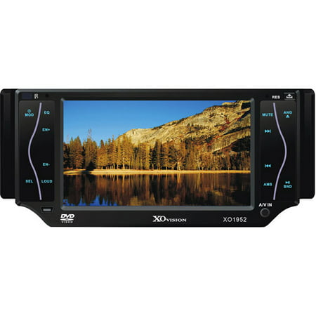 "XO1952NAV 5"" Touchscreen DVD Receiver with SD and AV Inputs"