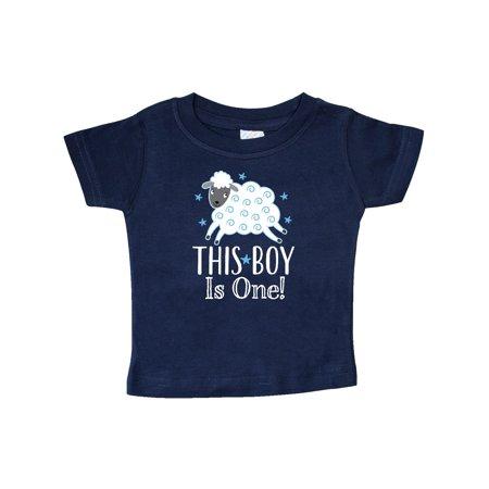 1st Birthday Baby Boy Lamb T Shirt