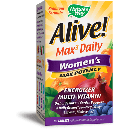 Natures Way Alive! Womens Max3 Potency Multivitamin Supplement Tablets 90 (Alive Multivitamin 90 Tablets)