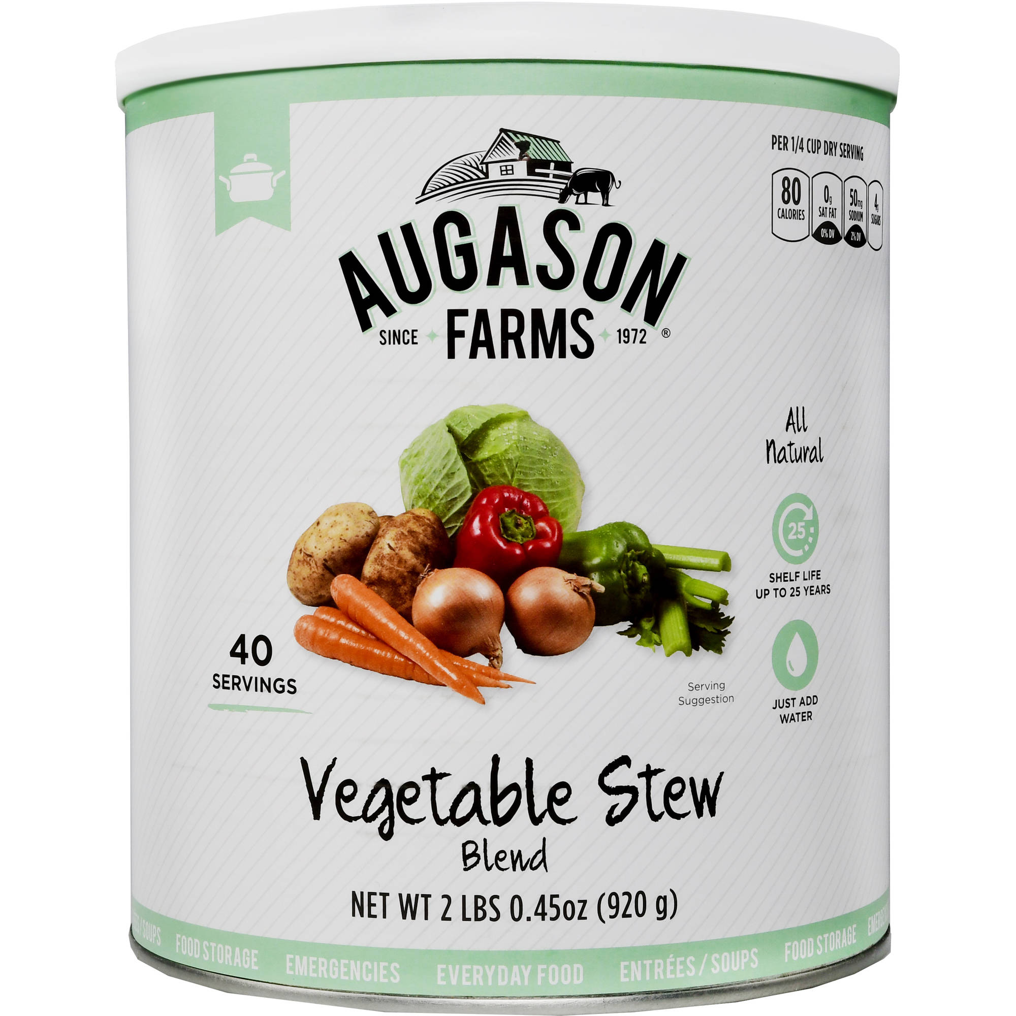 Augason Farms Emergency Food Vegetable Stew Mix, 2 lb