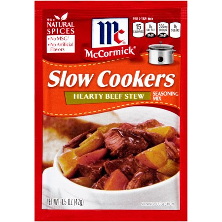 (McCormick® Slow Cookers Hearty Beef Stew Seasoning Mix, 1.5 OZ)
