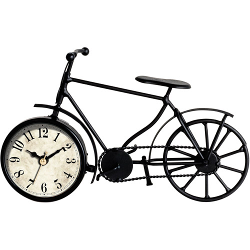Better Homes and Gardens Metal Bicycle Table Clock by MZBerger