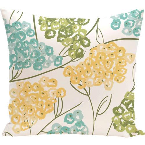 "Simply Daisy 16"" x 16"" Hydrangeas Floral Print Pillow"