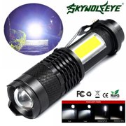 Best Aa Led Flashlights - 5000LM Zoomable COB+ Q5 LED 4Mode 14500/AA Tactical Review