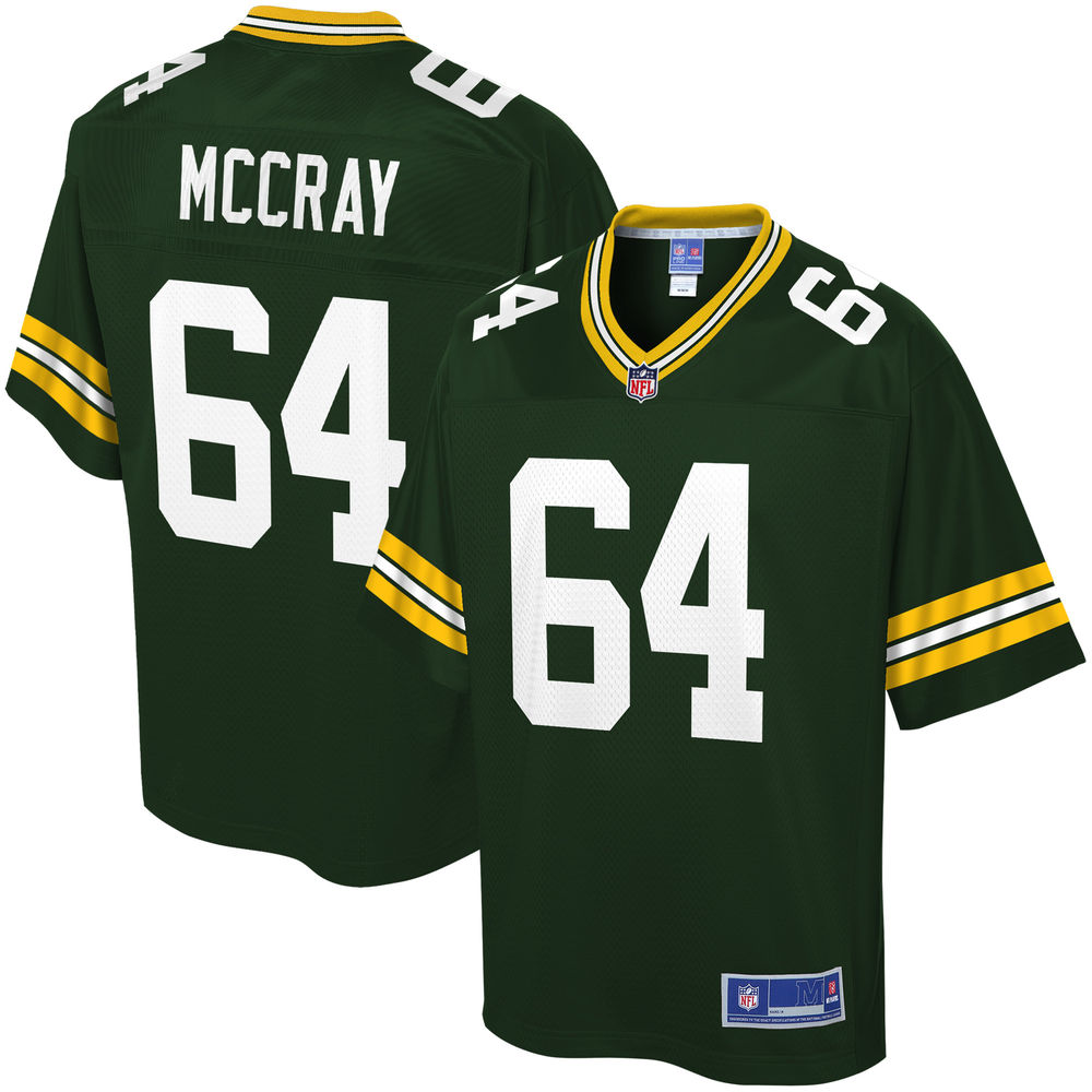 Youth Green Bay Packers Justin McCray NFL Pro Line Green Team Color Player Jersey