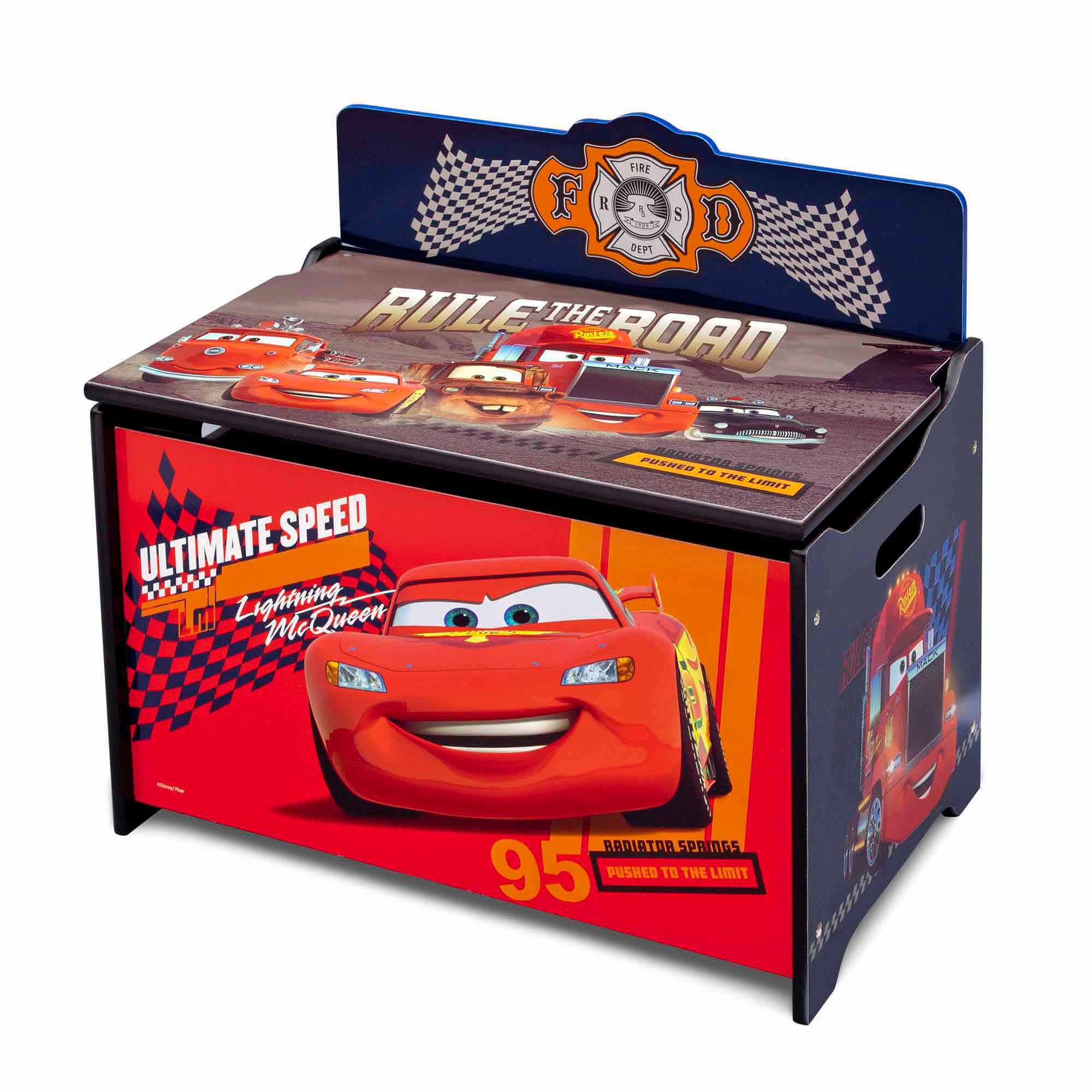 Disney Cars Deluxe Toy Box Walmart