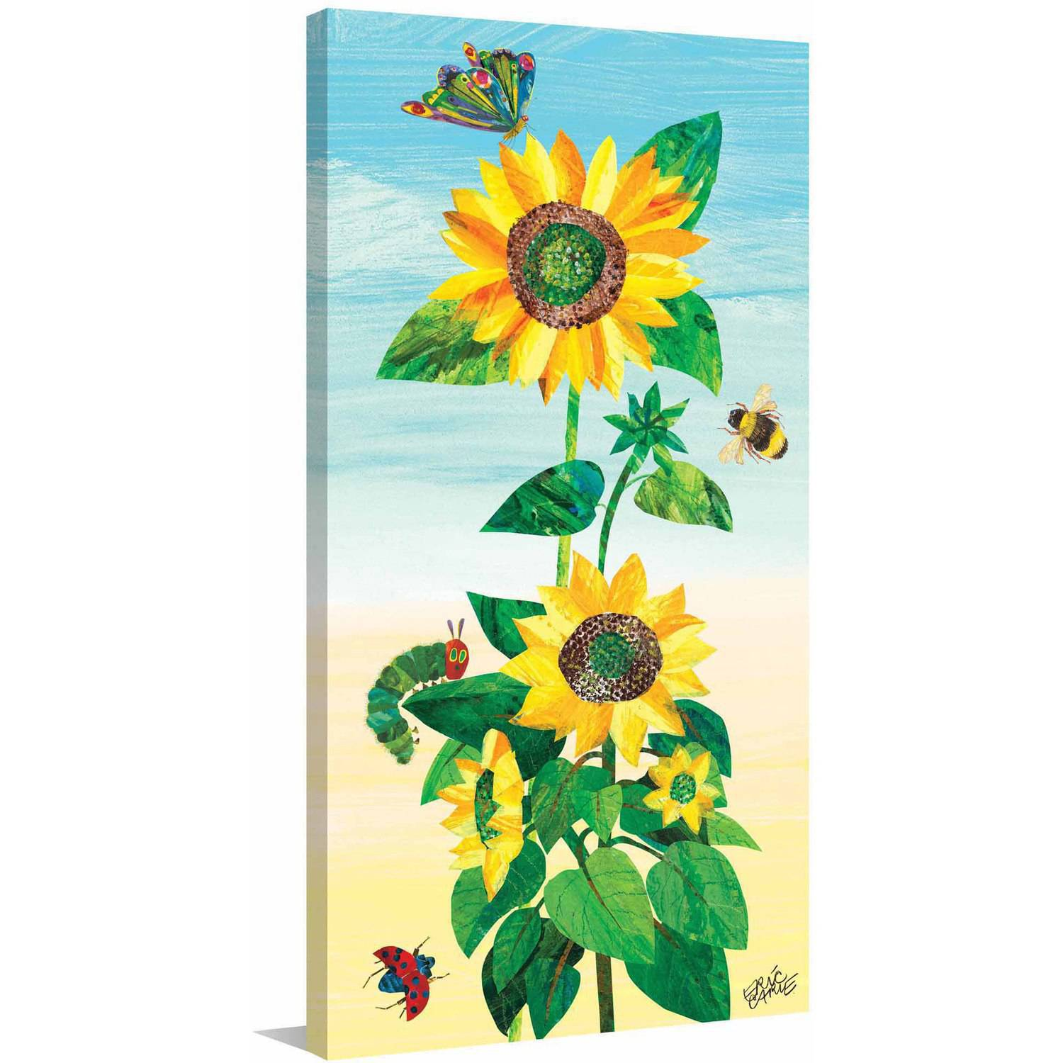Eric Carle Sunflower and Bugs 2 Art Print on Premium Canvas