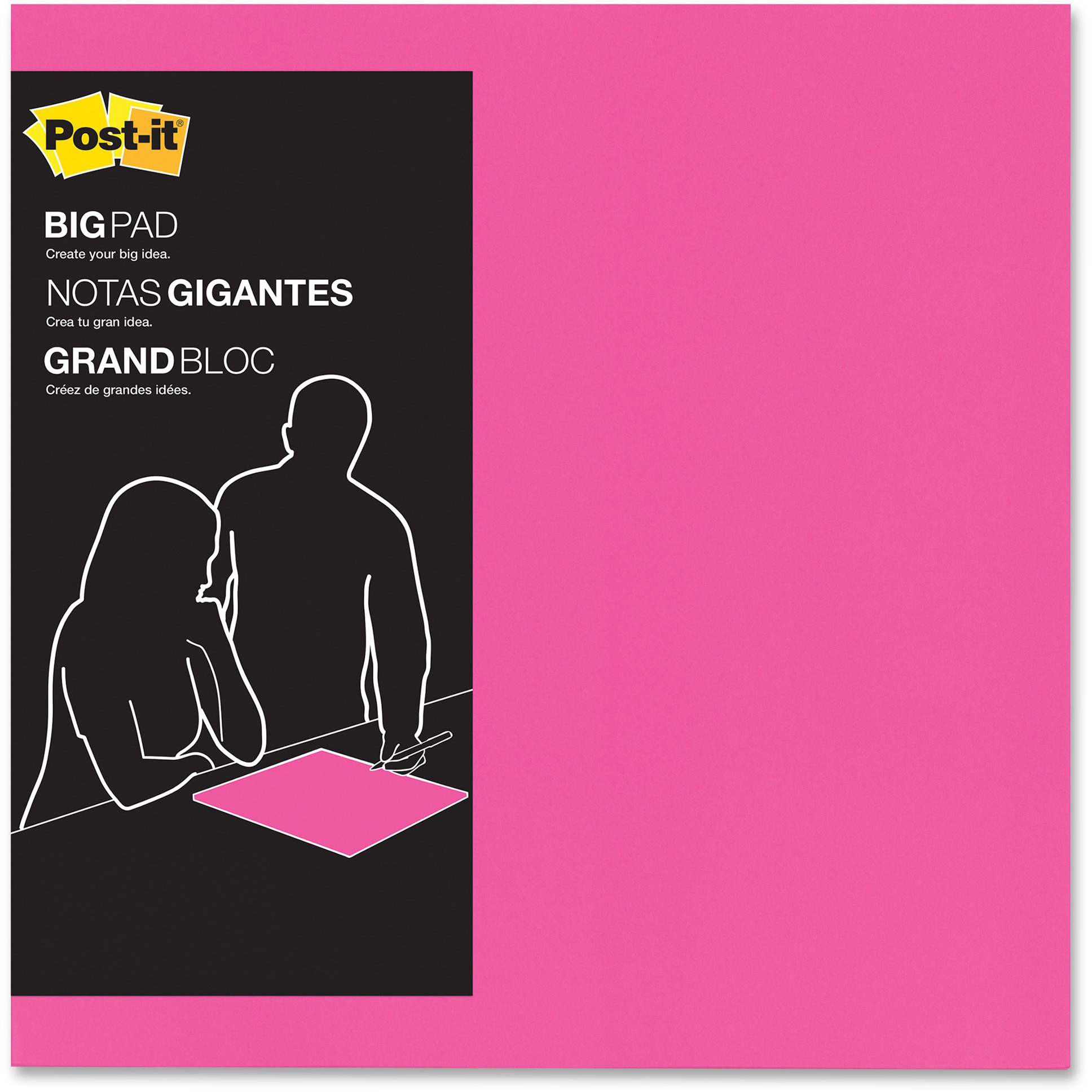 "Post-it Super Sticky Big Notes, 15"" x 15"", Fuschia, 30 / Pad (Quantity)"