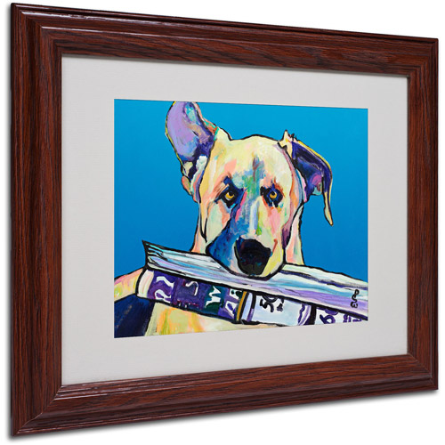 "Trademark Fine Art ""Daily Duty"" Matted Framed Art by Pat Saunders"