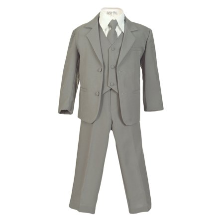 Avery Hill Boys Formal 5 Piece Suit with Shirt and Vest (Toddler, Little Boys, Big Boys) ()