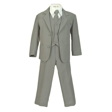 Avery Hill Boys Formal 5 Piece Suit with Shirt and Vest (Toddler, Little Boys, Big Boys) (Linen Suit For Toddlers)
