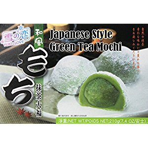 Free One NineChef Spoon + Japanese Rice Cake Mochi Daifuku (Green Tea) 7.4 oz (12 Pack)