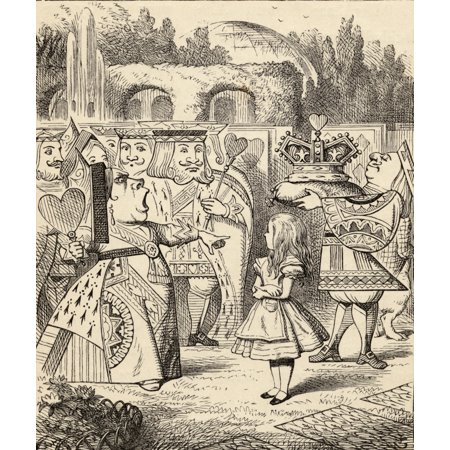 Off With Her Head Illustration By John Tenniel From The Book Alicess Adventures In Wonderland By Lewis Carroll Published 1891 Stretched Canvas - Ken Welsh  Design Pics (26 x (John Lewis 20 Off Code)