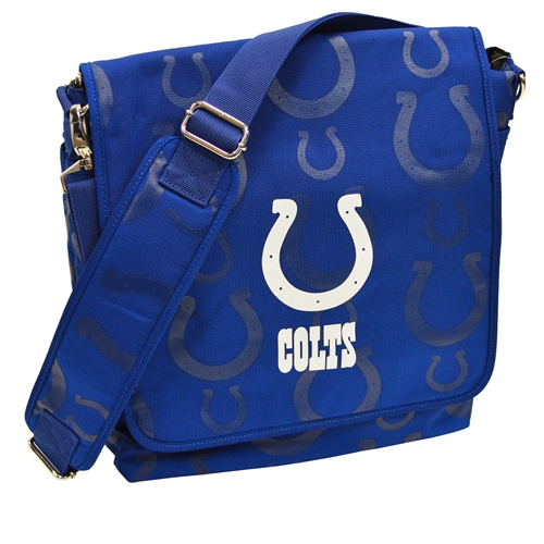 NFL Diaper Bag by Lil Fan, Messenger Style - Indianapolis Colts