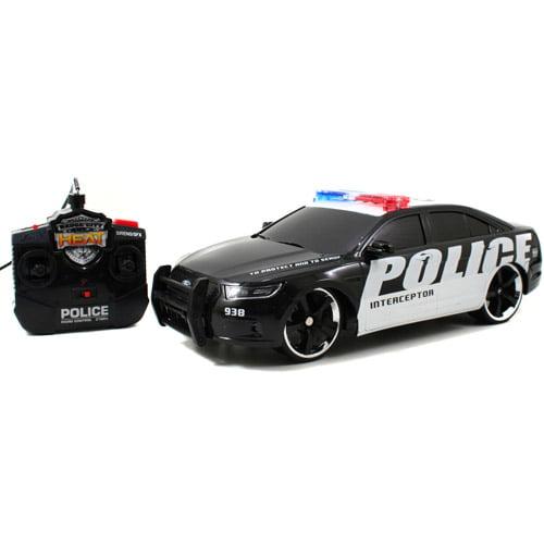 Jada Badge City Heat 1:16-Scale Radio-Controlled Ford Police Interceptor