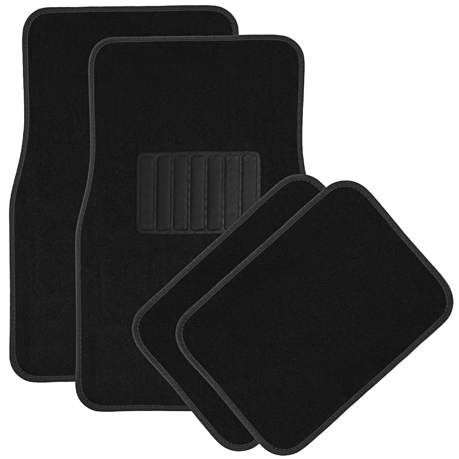4 Piece Full Set Heavy Duty Carpeted Floor Mats, Universal Fit Car, SUV, & Truck by Stinger