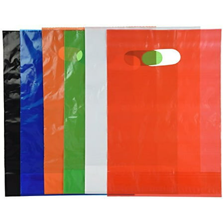 Assorted Colored Plastic Bags 50 count