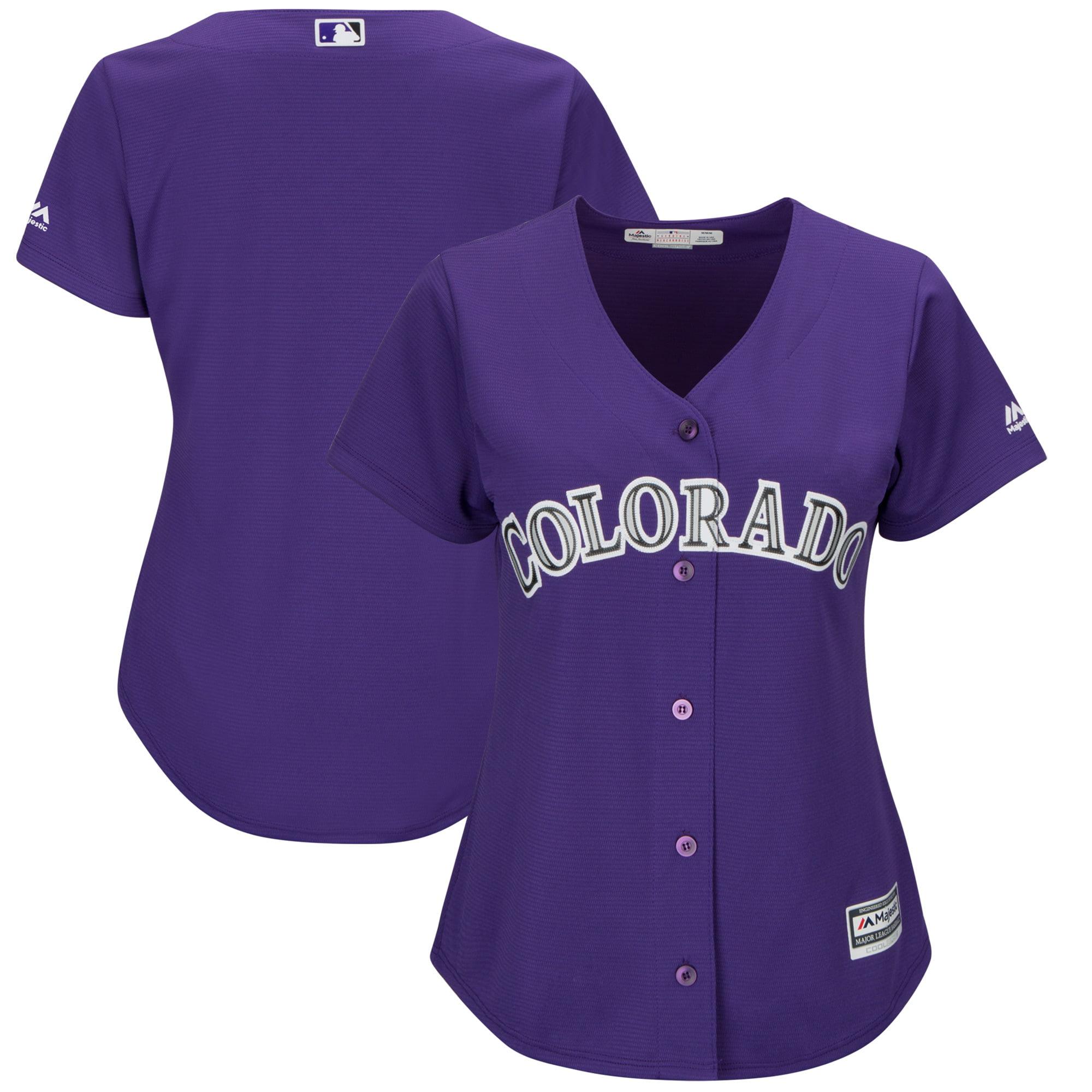 Colorado Rockies Majestic Women's Alternate Cool Base Team Jersey - Purple