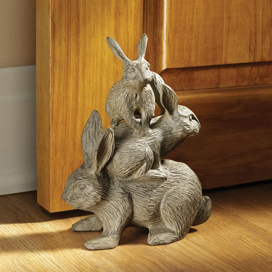 Design Toscano Bunched Bunnies Cast Iron Statue