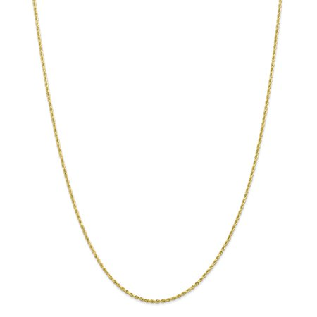 10K Yellow Gold 1.75mm High Polished Diamond-Cut Rope Necklace Chain -16