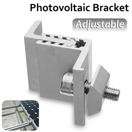 Aluminum Alloy Adjustable 19mm-29mm/35mm-55mm Solar Panel Mounting Z Brackets End Mid Clamp Kit with Nuts and Bolts, Supporting for RV Roof (Best Roof For Solar Panels)