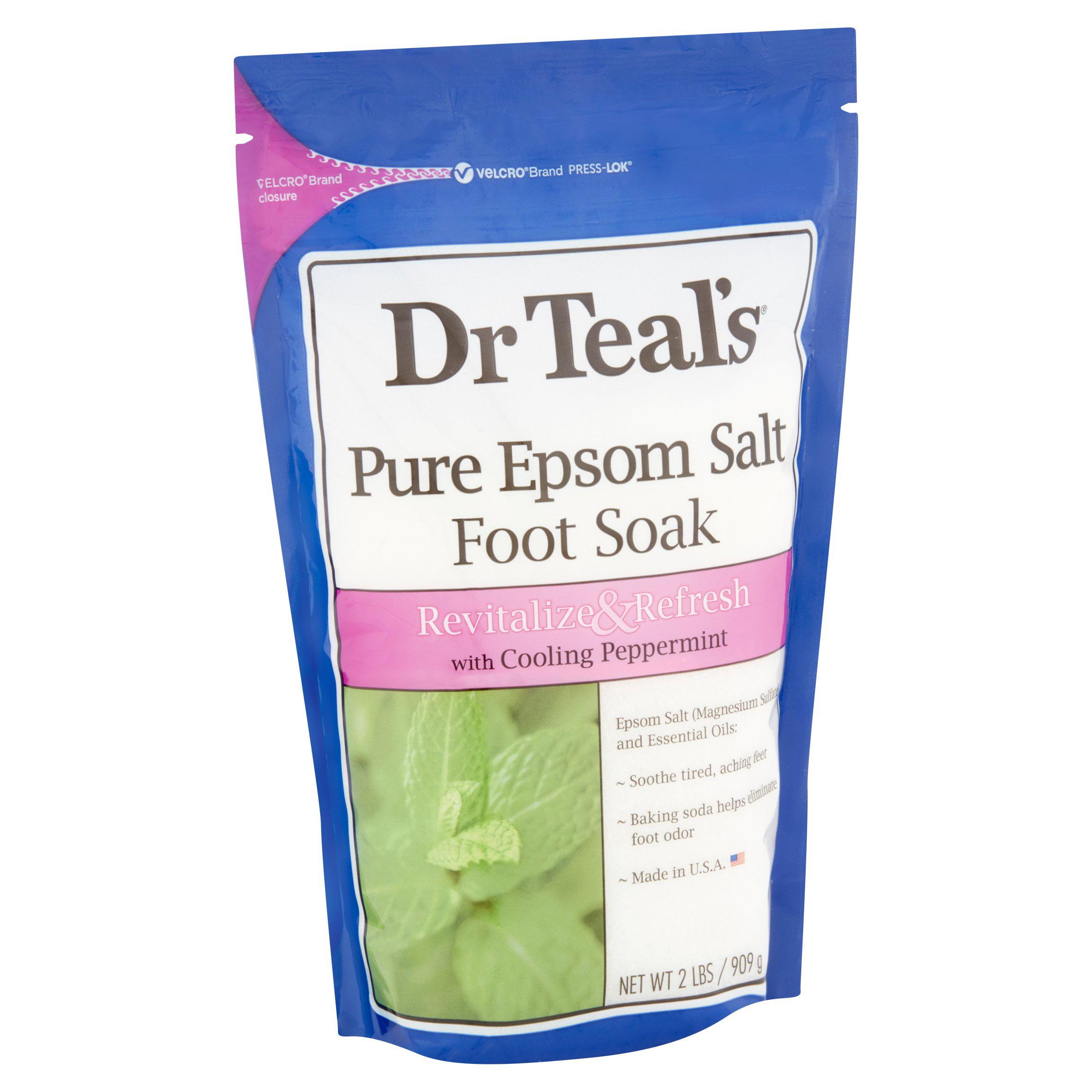 Dr Teal's Pure Epsom Salt Foot Soak, 2 lbs  - Walmart com