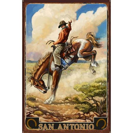 San Antonio Rustic Metal Art Print by Paul A. Lanquist (24