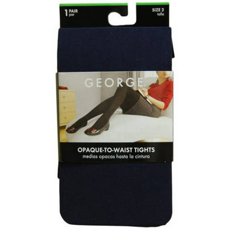 b81318c71f9 George - Women s Opaque To Waist Tights - Walmart.com