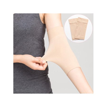 Dual Band Compressor - 1 Pair Skin Color Waterproof Arm Tattoo Cover Up Compression Sleeves Band Concealer Support for Women