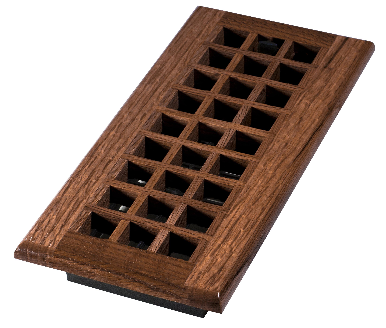 Floor Register 4 X 10 Wood Cherry Finish