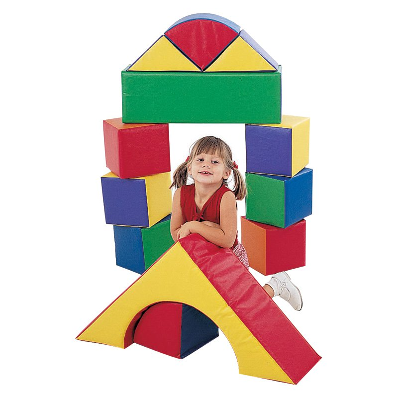 Children's Factory 9 in. Block Set Set of 12 by Children's Factory
