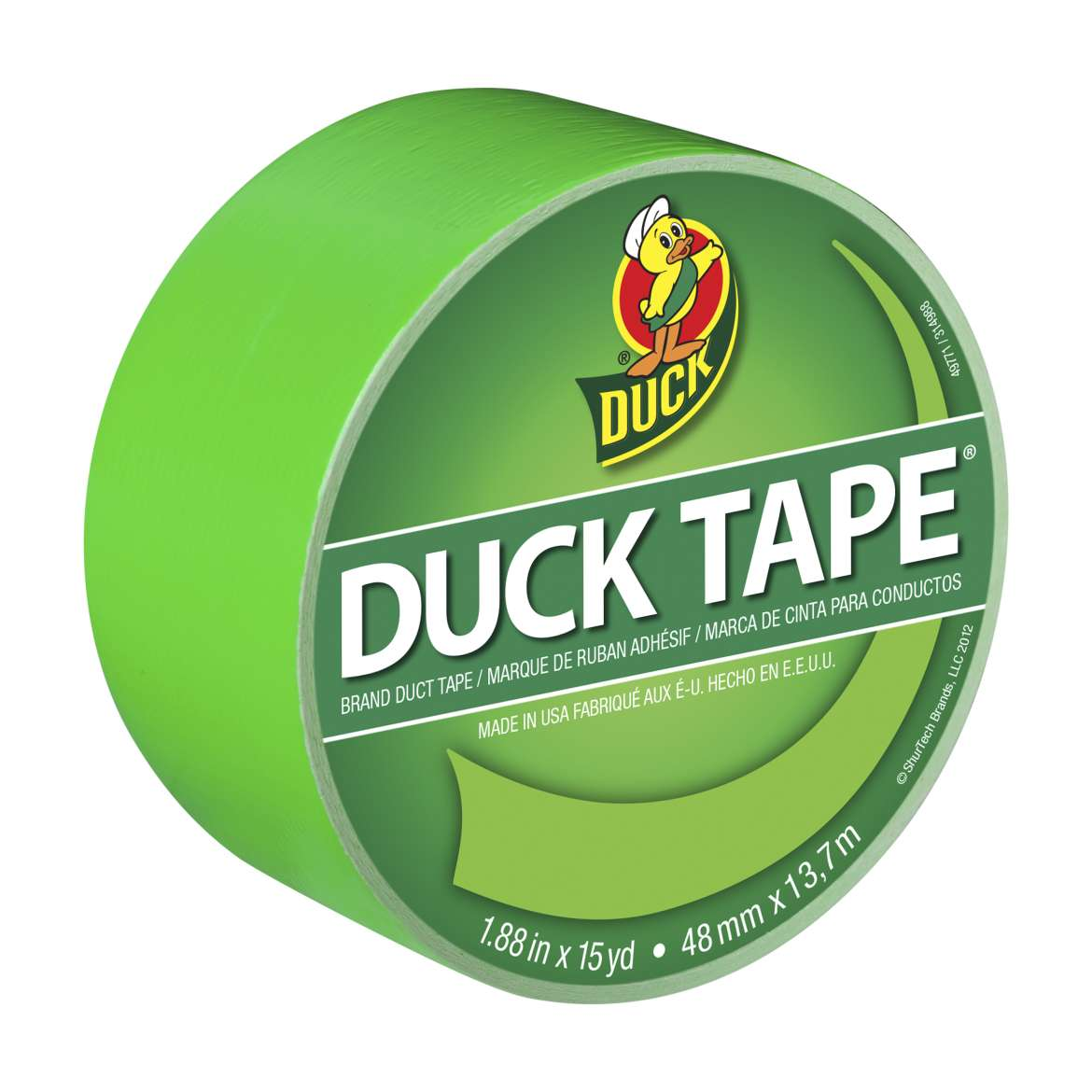 Duck Brand Duct Tape, 1.88 in. x 15 yds., Neon Green