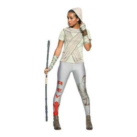 Womens Rey Rhinestone Halloween Costume T-Shirt (Rey Mysterio Youth Halloween Costume)