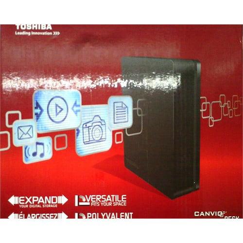 Refurbished Toshiba 2TB Canvio Desk Desktop External Hard Drive (Black/Black) (HDWC120XK3J1)