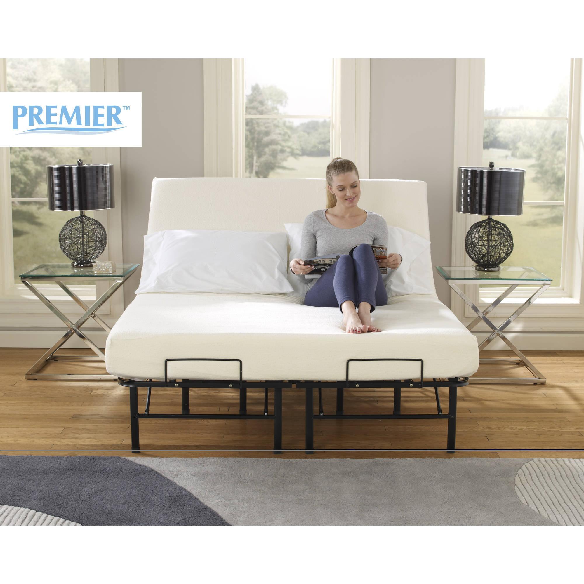 Premier Simple Adjustable Platform Bed Frame, Multiple Sizes