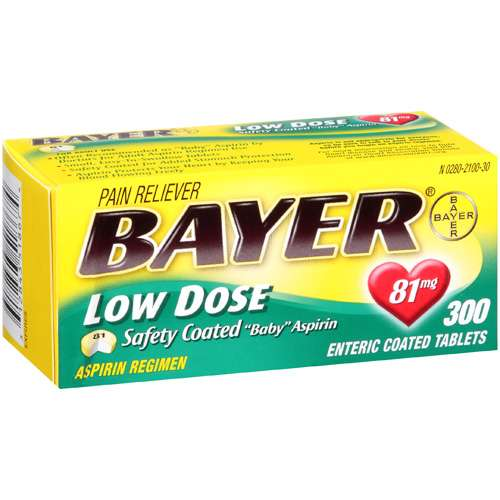 """Bayer: Low Dose Safety Coated """"Baby"""" Aspirin, 300 ct"""