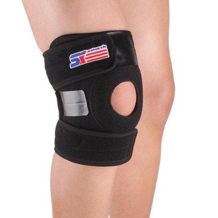 SX625 Adjustable Sports Leg Knee Support Brace Wrap Protector Pad Patella Guard 2 Spring Bars