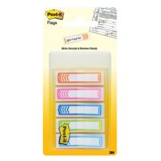 Post it Sign Here Message Flags, Assorted Colors, 1/2 in, 20/Color, 5 Ct